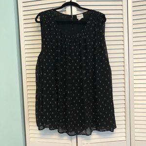 Ava & Viv sleeveless black blouse
